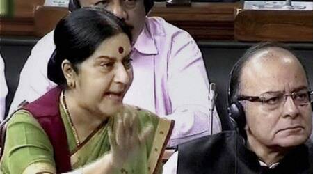 Sushma Swaraj, Warren Anderson, Ottavio Quattrocchi, Rajiv Gandhi, Sonia Gandhi, GST bill, Rajya Sabha, monsoon session, monsoon session 2015, india news, news
