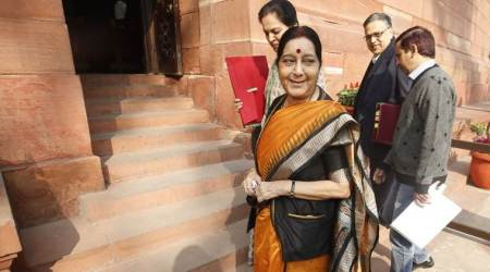 Hindi, UN, Sushma Swaraj, UN language, Shashi Tharoor, Lok Sabha, Hindi launguage, india news,