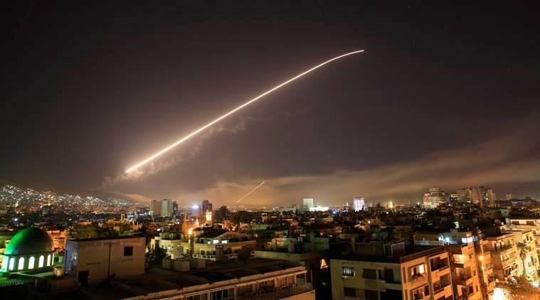 airstrikes in syria thwarted by surface to air missiles