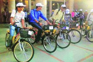 Bicycle bank to help poor students ride their way to better education