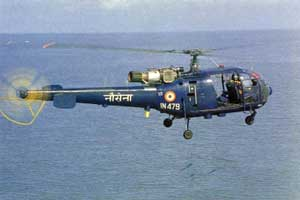 Navy's Chetak helicopter crashes near Vizag,2 personnel missing