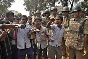 Semi-nude protest: police register cases - The Hindu