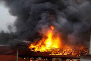 Fire in residential building inMumbai
