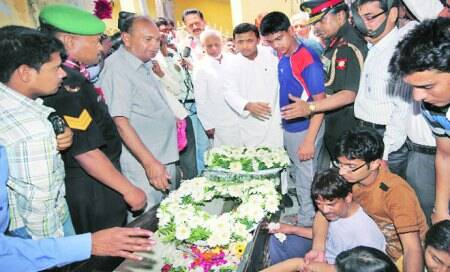 Armyman who died in Sudan cremated in Lucknow