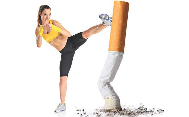 After three months in the programme, 32 per cent of smokers who used Break It Off apps and web tools had quit smoking. (Source: wikiHow)