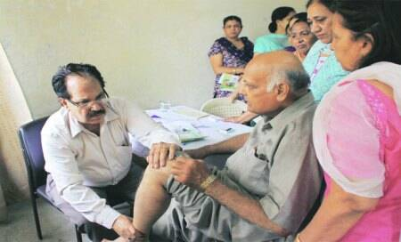 Health camp held for senior citizens at PU