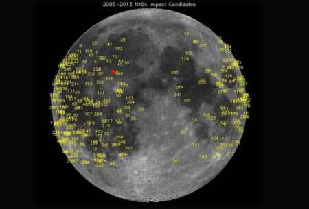 Meteoroid impact triggers bright flash on lunar surface