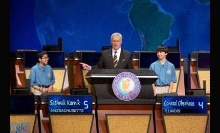 Indian-origin boy Sathwik Karnik wins National Geographic Bee contest