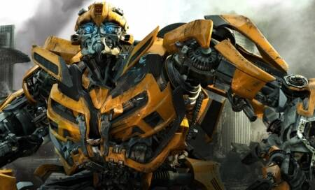 Bumblebee goes vintage for Transformers4