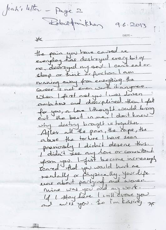 Full text of Jiah Khan's six page letter | Entertainment News, The