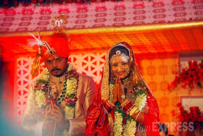 Sreesanth,Bhuwneswari's Marriage Reception