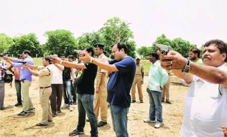 On hit list,businessmen and politicians line up for arms training