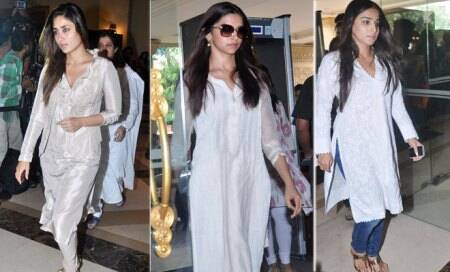 Bollywood biggies including Kareena,Vidya at the condolence meet of Priyanka Chopra's father