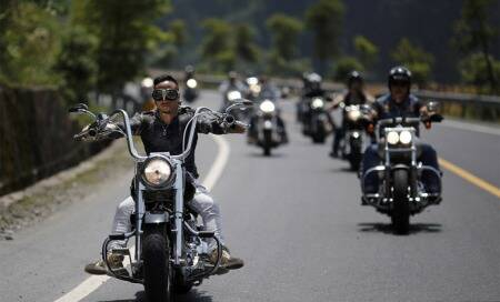 Pope blesses hundreds of Harley-Davidsons on 110th anniversary