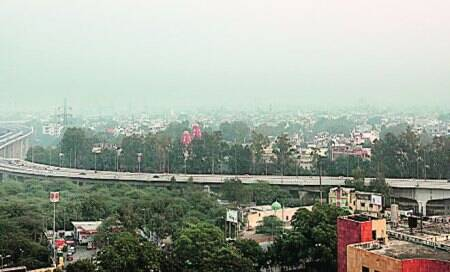 Barapullah elevated road on way to third extension,will connect to UP LinkRoad