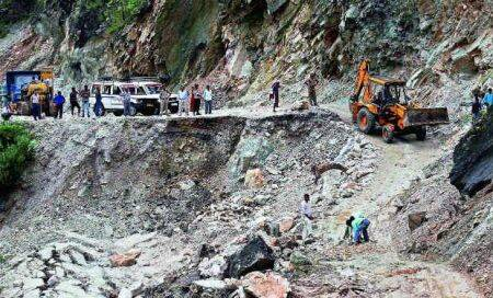 Uttarakhand: Monks walk their way to deliver relief through broken roads