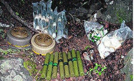 Cache of arms and ammunition recovered in Budgam district