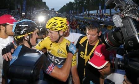 Tour de France: Kenyans celebrate as Chris Froome begins lap ofhonour