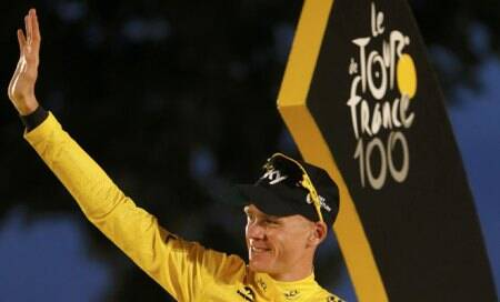 Chris Froome triumphant in 100th Tour deFrance
