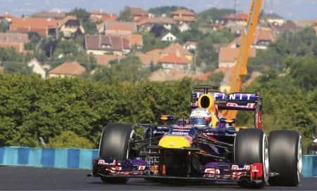 Sebastian Vettel leads Red Bull in Hungarypractice