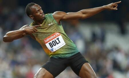 Usain Bolt produces a show-stopping performance at the London DiamondLeague