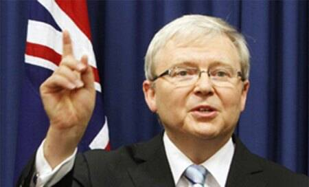Australian Prime Minister Kevin Rudd criticises media mogul Rupert Murdoch of trying to oust his government through slanted media campaign