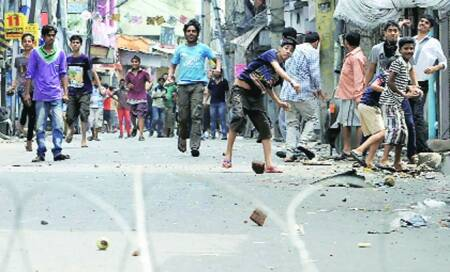 Fresh clashes,curfew extended to 8 districts; Omar targetsBJP