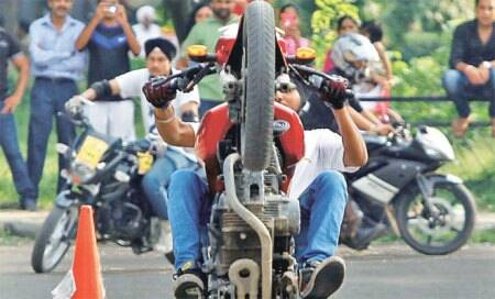 How did stunts by bikers promote