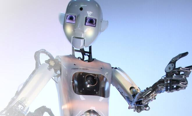 Now,robot that is a stand-upcomedian