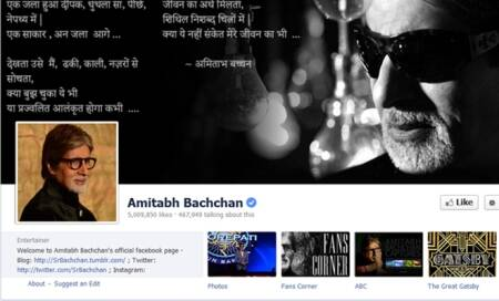 Amitabh Bachchan has more than 5 million followers on Facebook