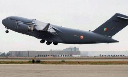 C-17 heavy-lift transport plane inducted into Indian Air Force