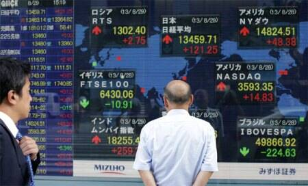 Asian stocks snap four-day rally on Syria concerns