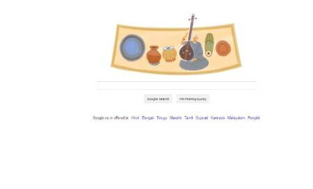 Google doodle on M S Subbulakshmi's 97th birthday
