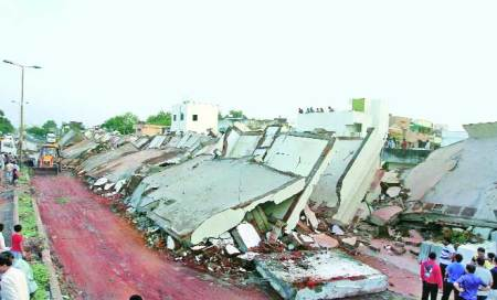 12 hours after evacuation,Madhav Park flatscollapse
