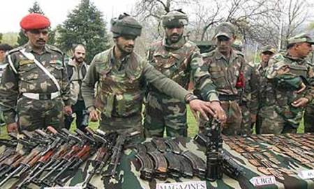 J&K: Militant hideout busted in Bandipora,armsrecovered