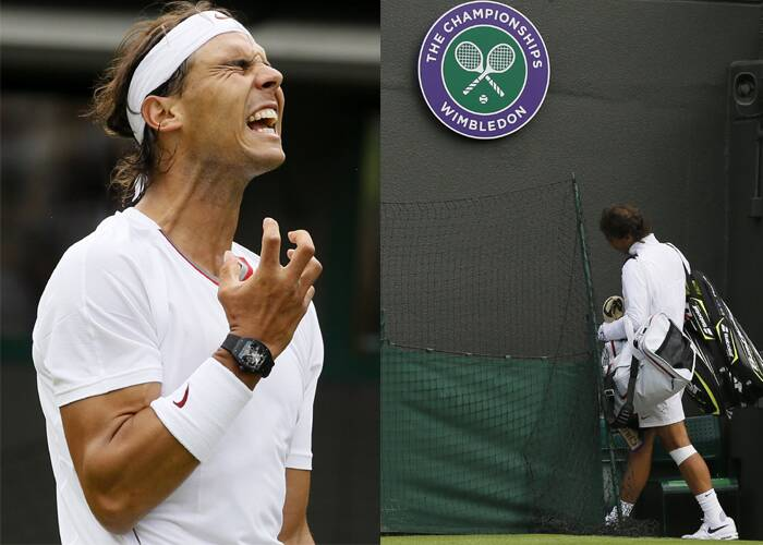 Rafael Nadal Crashes Out In First Round At Wimbledon Sports Gallery News The Indian Express