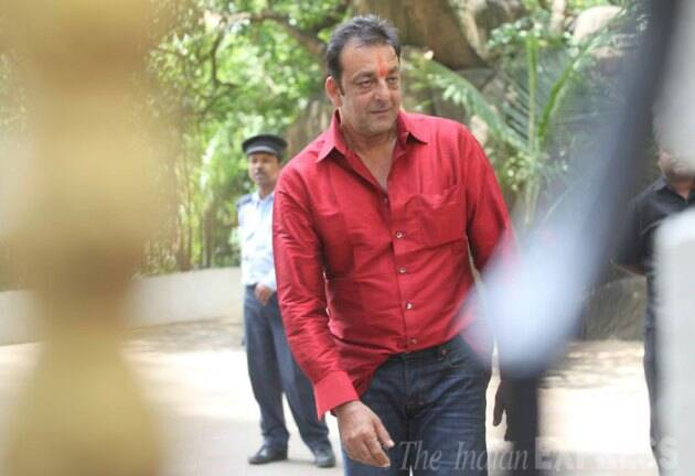 First Photos: Sanjay Dutt out on parole from jail ...