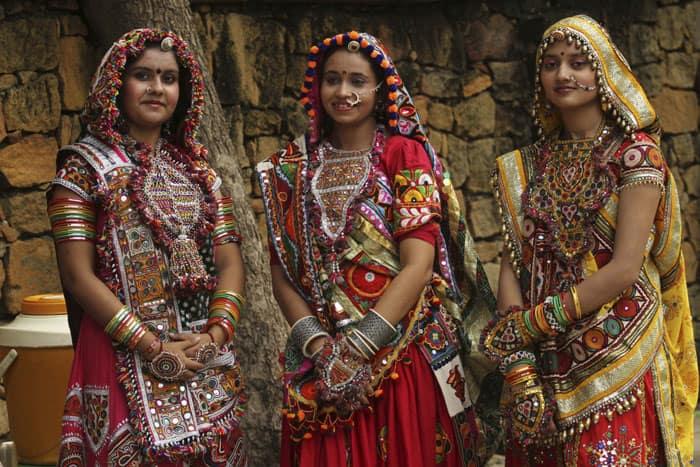 Fantastic Female In Gujarati Dress Known As Chaniya Choli