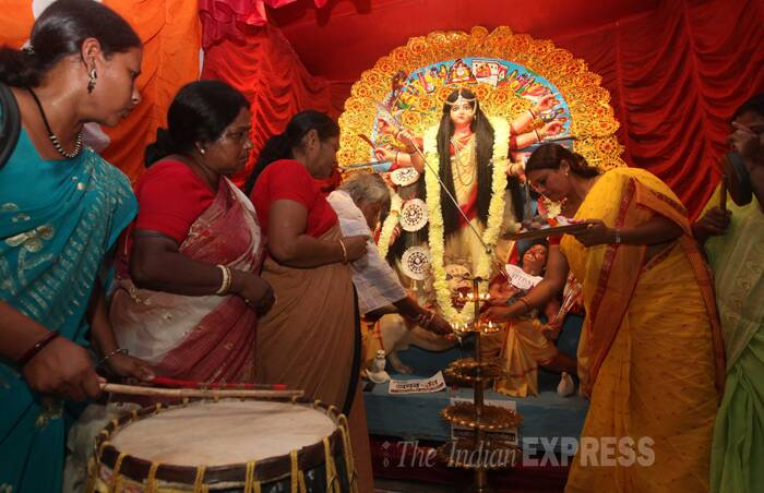 sexworker durgapuja, Sonbachi sex workers, red light area, Durga puja festival, Kolkata, India news, Indian express
