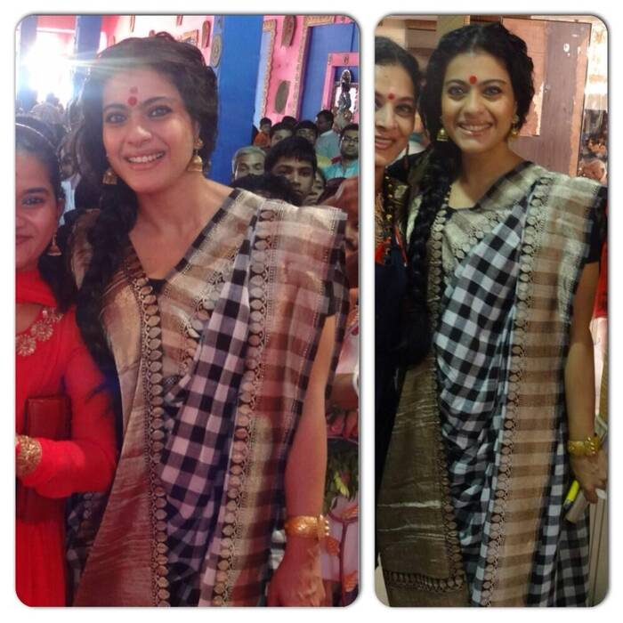 ceab26ea92a12c Kajol is a stunner in traditional Bengali style   Entertainment ...