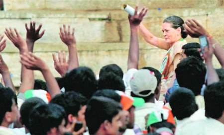 Sonia backs PM: 'his leadership behind all our achievements'