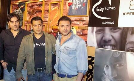 Now available: Salman Khan's Being Human merchandise at a bike showroom