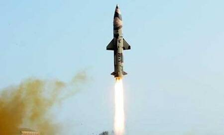 India test-fires indigenously developed nuclear-capable Prithvi-IImissile