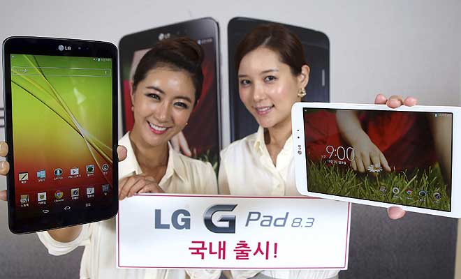 LG Electronics launches G Pad 8.3 tablet with sharper display