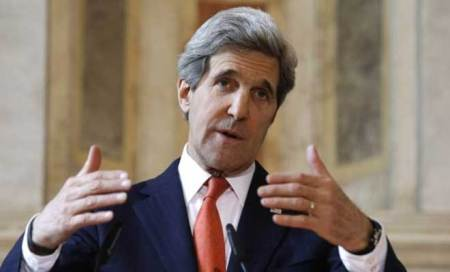 Progress on US-Afghan deal as Kerry visits Kabul