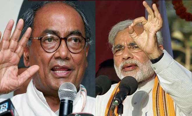 Congress is considering Digvijaya Singh against Narendra Modi.