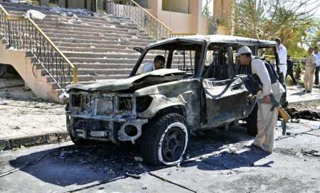 Activists: Suicide vehicle bomb near Syrian capital kills 16