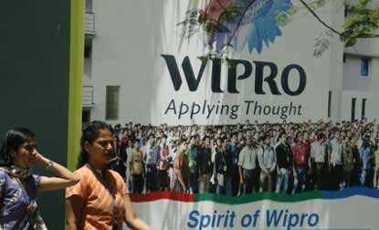 Wipro shares settle over 4 pct down,market capitalisation erodes by Rs 5,596cr
