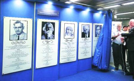 Original text of Tagore's Nobel nomination on display