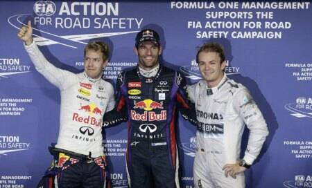 Mark Webber keeps Sebastian Vettel off Abu Dhabi pole